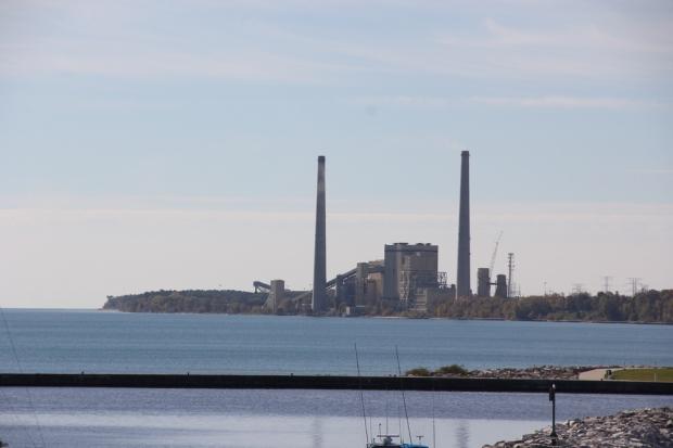 The coal-fired Edgewater Generating Station mars an otherwise beautiful Lake Michigan coastline in Sheboygan.