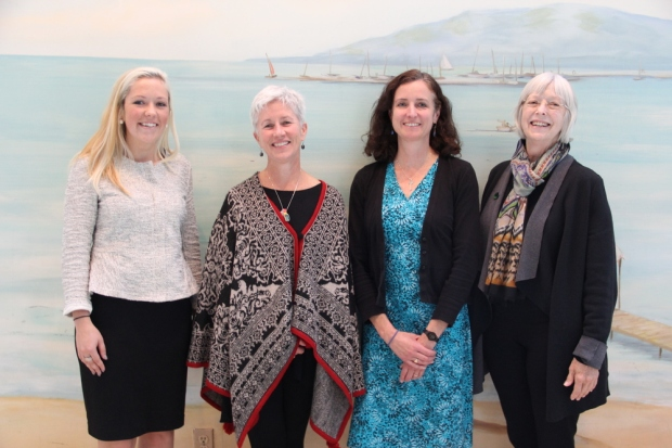 Meghan Jensen of the Water Council, Ann Brummitt of Milwaukee Water Commons, Karen Sands ofMilwaukee Metropolitan Sewerage District, and Lynde Uihlein. Milwaukee's water community is very collaborative.