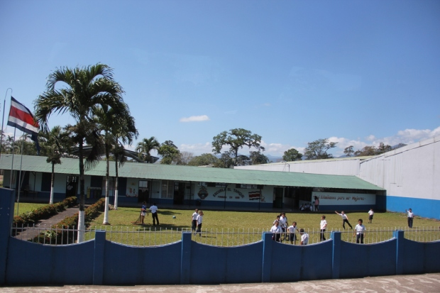A school near Fortuna. Without a military, Costa Rica is free to spend its money on universal education, healthcare, and other social goods.